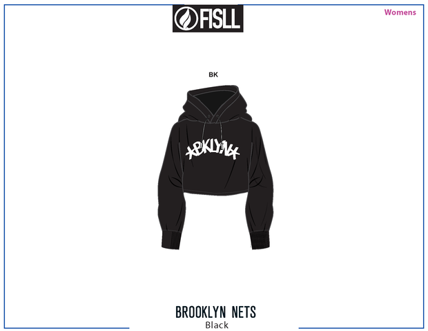 FISLL/NBA Brooklyn Nets Cropped Women's Hoodie