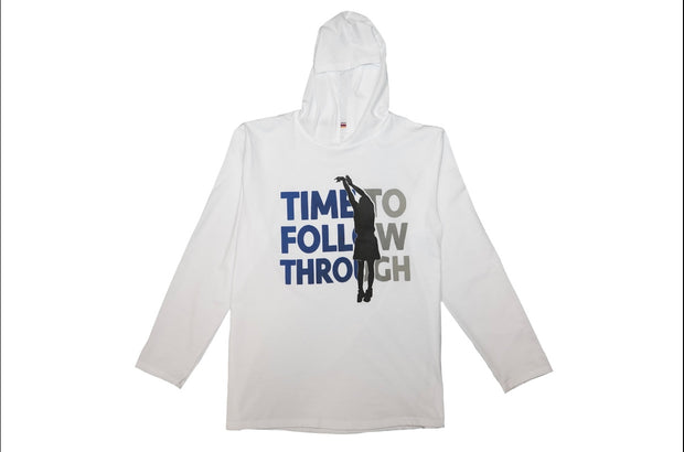 "FISLL Men's ""Time to Follow Through"" Hooded  L/S T-Shirt"