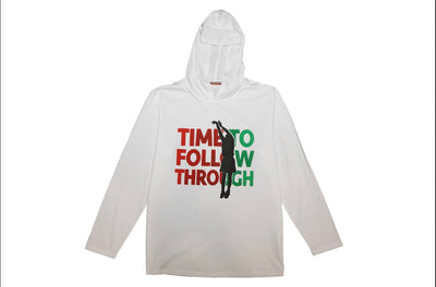 "FISLL Women's ""Time to Follow Through""  Hooded L/S T-Shirt"