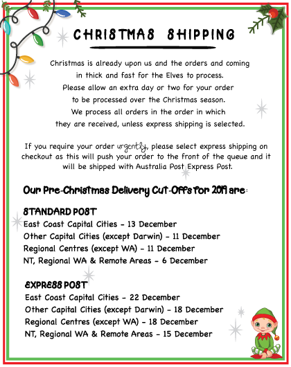Christmas Shipping Information