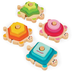 Wooden Stacking Puzzle Turtle