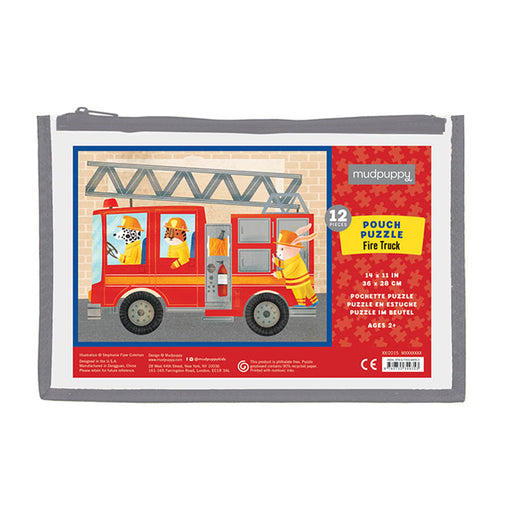 Mudpuppy Fire Truck 12 Piece Puzzle
