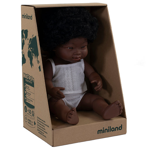 Miniland Doll African Down Syndrome Girl 38cm
