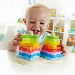 Hape Double Rainbow Stacker Baby