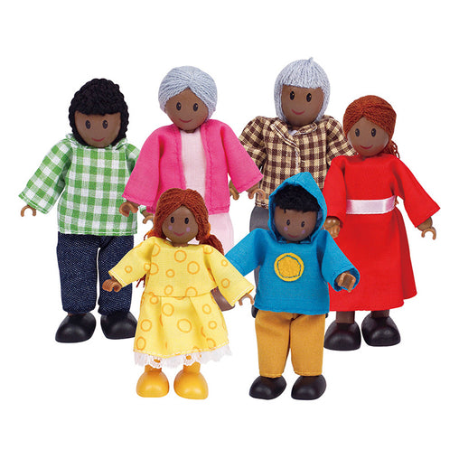 Hape Happy Family African Wooden Doll Set