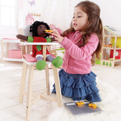 Hape Baby Doll High Chair Girl Playing