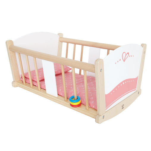 Hape Rock-a-Bye Baby Doll Cradle Cot Bed