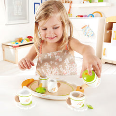 Hape Tea Set for Two Girl Playing