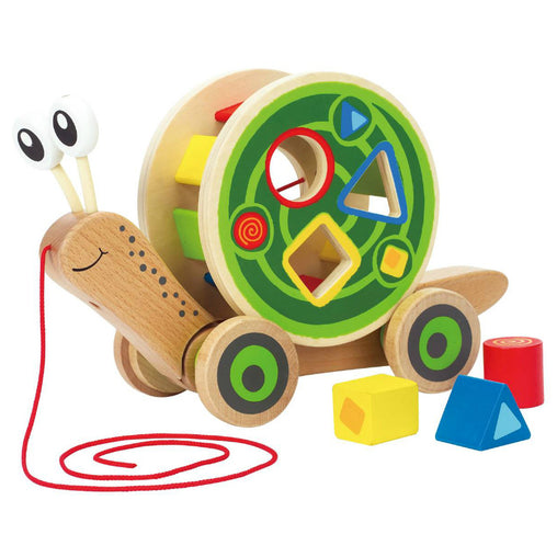 Hape Walk-A-Long Snail Shape Sorter Pullalong