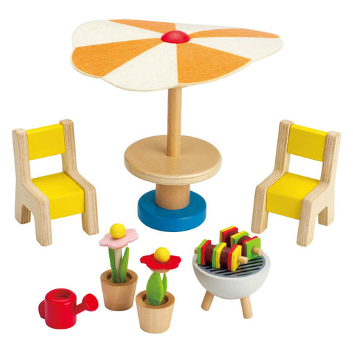 Hape Patio Set Wooden Dolls Furniture