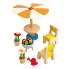 Hape Patio Set Wooden Dolls Furniture 2