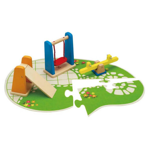 Hape Playground Set Wooden Dolls Furniture