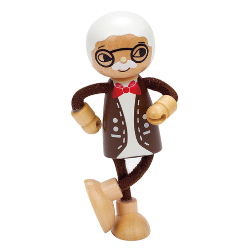Hape Wooden Doll Grandfather Legs Grossed