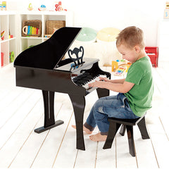 Hape Grand Piano 30-Key Boy Playing 2