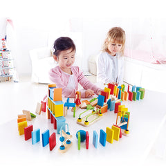 Hape Dynamo Dominoes Children Playing 2