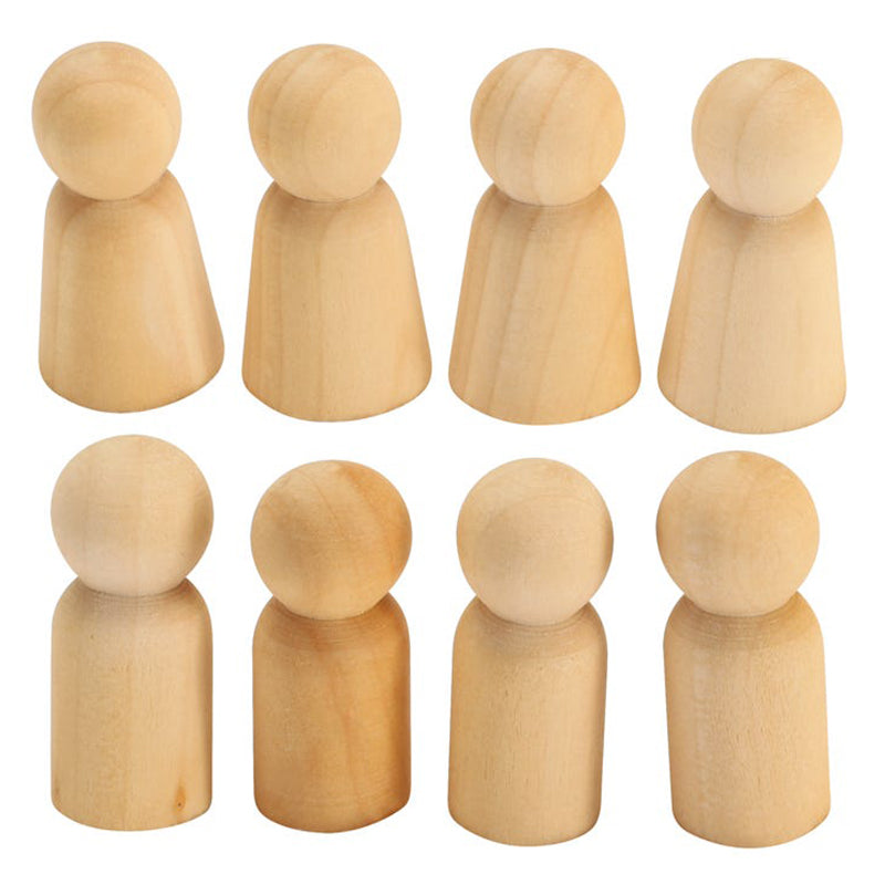 Educational Experience Wooden Peg People Pack of 8