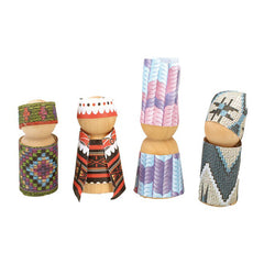 Educational Experience Wooden Peg People Pack of 8 Decorated
