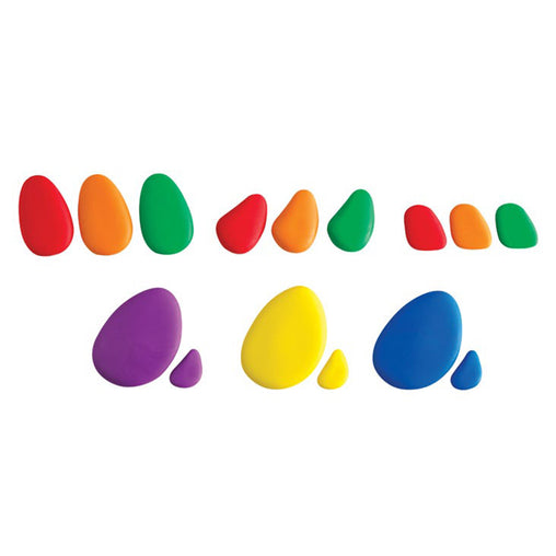 Edx Education Rainbow Pebbles and Cards Set of 36