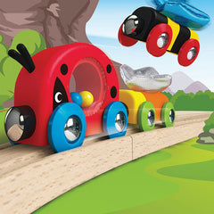 Hape Lucky Ladybug and Friends Train Bee