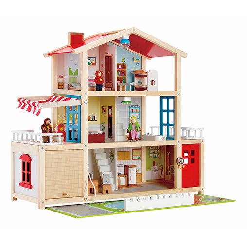 Hape Doll Family Mansion Wooden Doll House