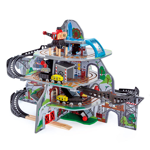 Hape Mighty Mountain Mine Railway Wooden Toy Train Set