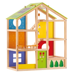 Hape All Seasons Doll House Furnished 2
