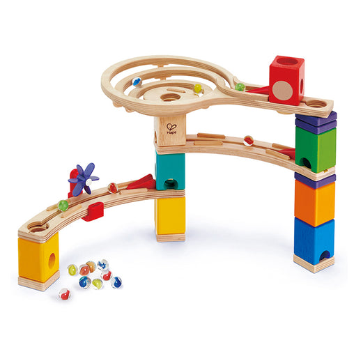 Hape Quadrilla Race to the Finish Marble Run Construction