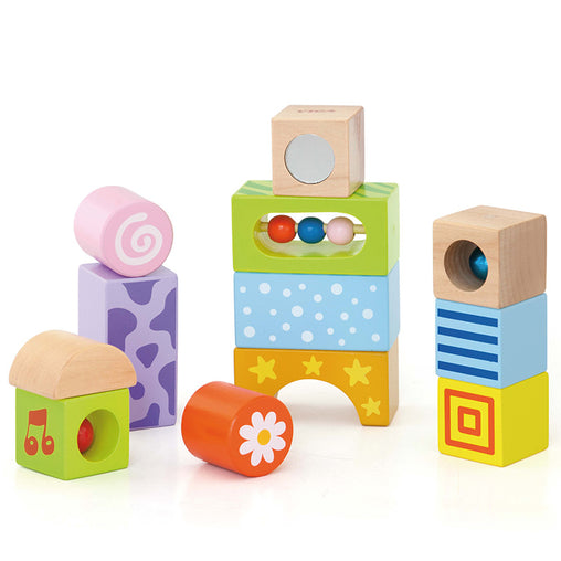 Viga Sensory Wooden Sound Blocks