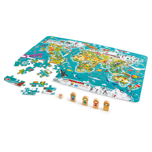 Hape World Map Puzzle 2-in-1