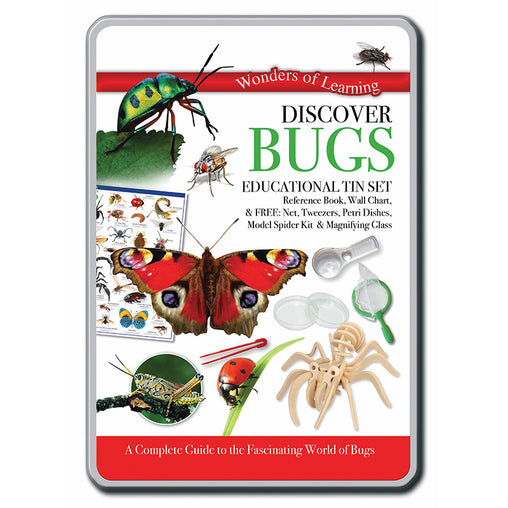 North Parade Publishing Discover Bugs Educational Tin Set Front