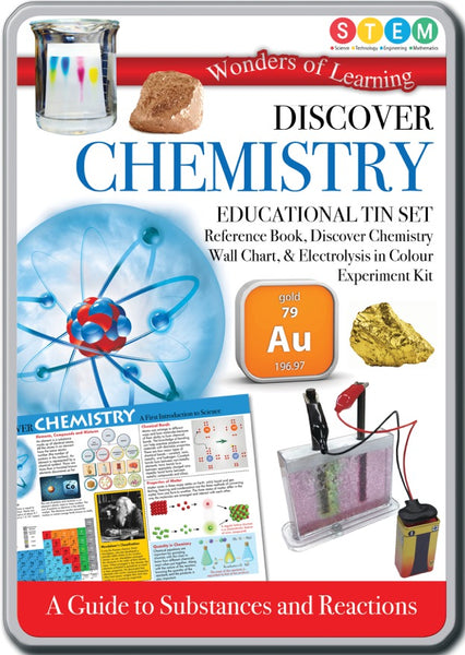 Wonders of Learning Discover Chemistry Educational Tin Set