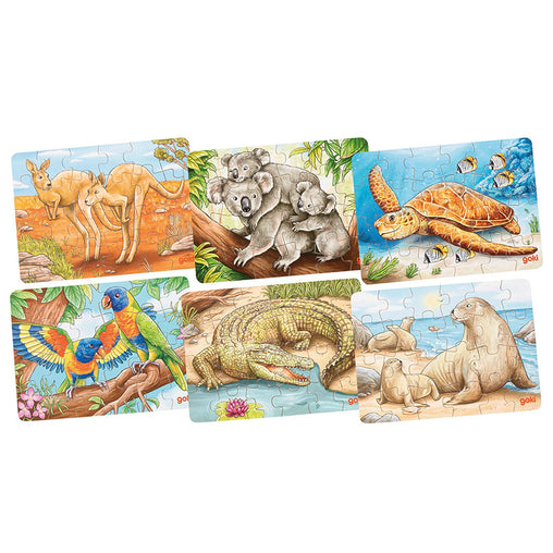 Goki Mini Puzzle Australian Animals 24 Pieces