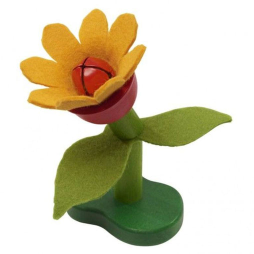 Gluckskafer Wood and Felt Flower Rattle