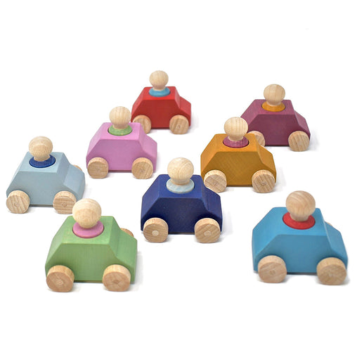 Lubulona Cars with Figurines 8 Pack