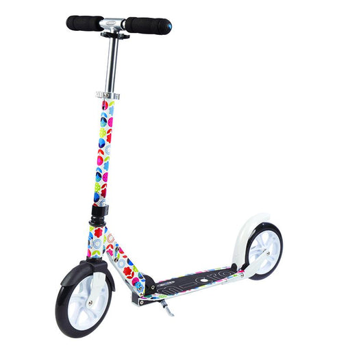 Teen Adult Micro Scooter White Floral Multicolour