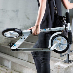 Teen Adult Micro Scooter White Folded