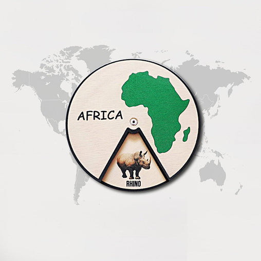 Minisko Learning Wheel Animal & Continents Africa
