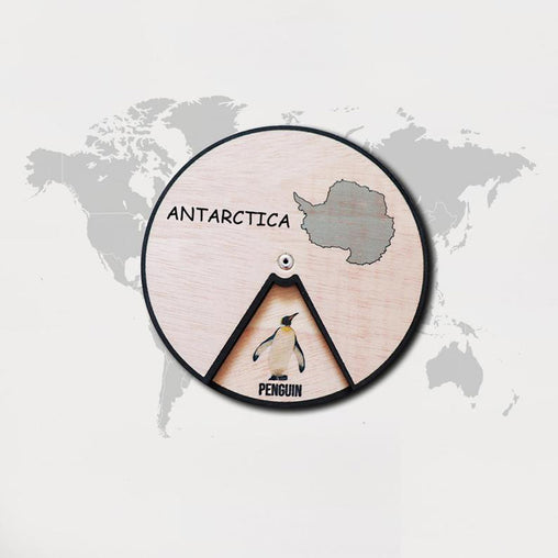 Minisko Learning Wheel Animal & Continents Antarctica