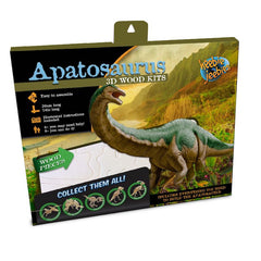 Heebie Jeebies Apatosaurus Dinosaur 3D Wood Kit Packaging