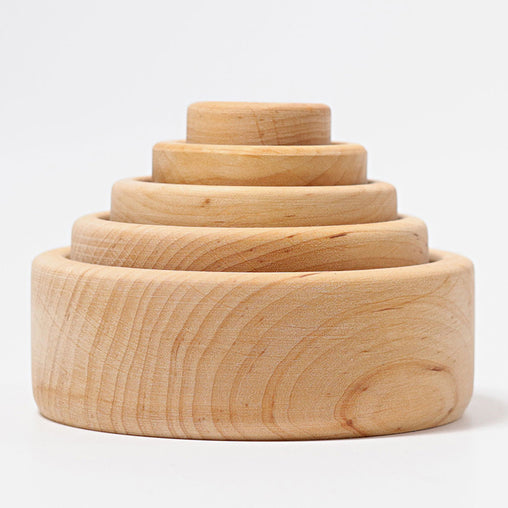 Grimm's Stacking Bowls Natural