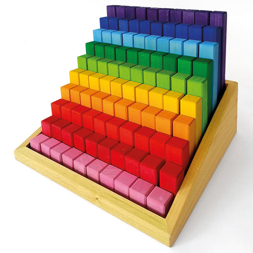 Bauspiel Stepped Colour Blocks 100 Pieces