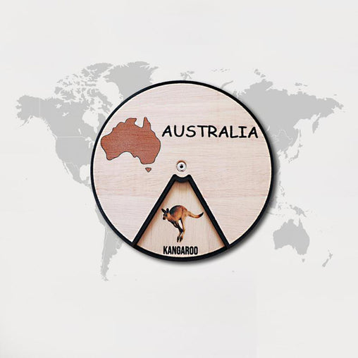 Minisko Learning Wheel Animal & Continents Australia