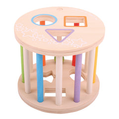Bigjigs Rolling Shape Sorter no Shapes