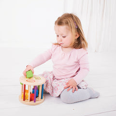 Bigjigs Rolling Shape Sorter Girl Playing