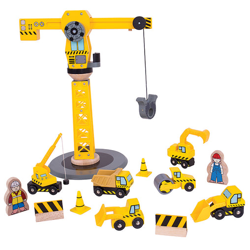 Bigjigs Big Crane Construction Set
