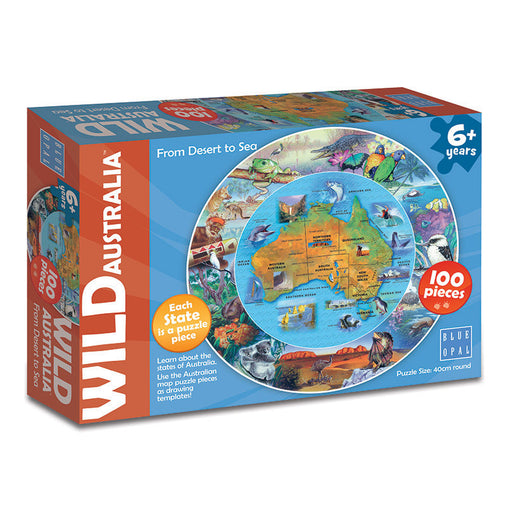 Blue Opal Wild Australia From Desert to Sea 100 piece Puzzle