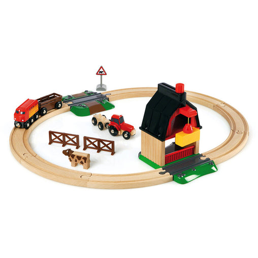 Brio Farm Train Railway Set 20 Pieces 33719