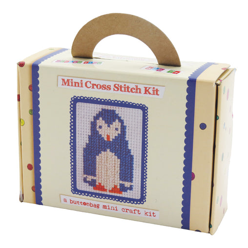 Buttonbag Mini Penguin Cross Stitch Packaging