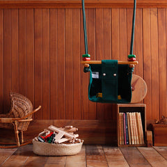 Solvej Baby and Toddler Swing Forest Green Inside