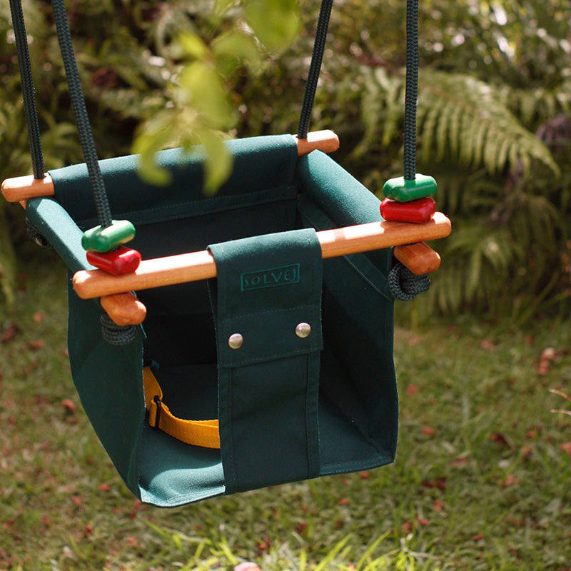 Solvej Baby and Toddler Swing Forest Green